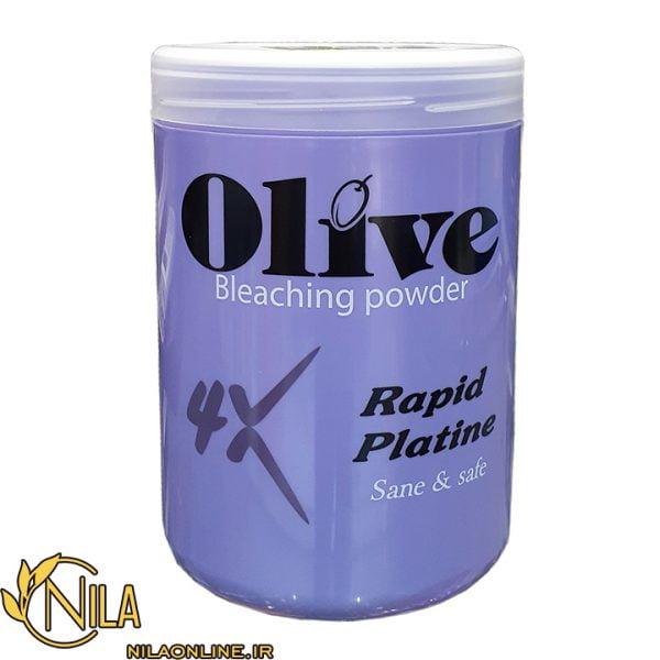 پودر دکلره Olive اولیو مدل 4x Rapid Platine پلاتینه