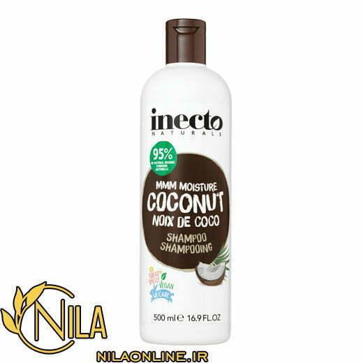 شامپو نارگیل اینکتو Inecto با خاصیت آبرسانی موهای خشک و خیلی خشک حجم 500 میلیلیتر 2