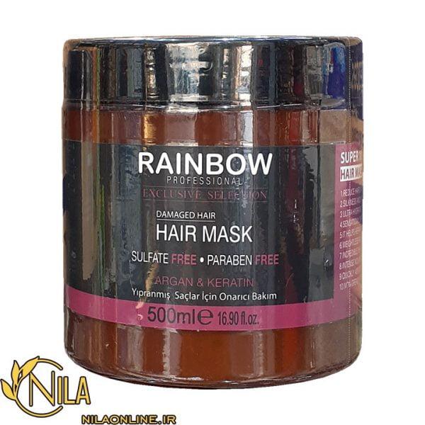 ماسک مو ده خاصیت آرگان و کراتین رینبو Rainbow