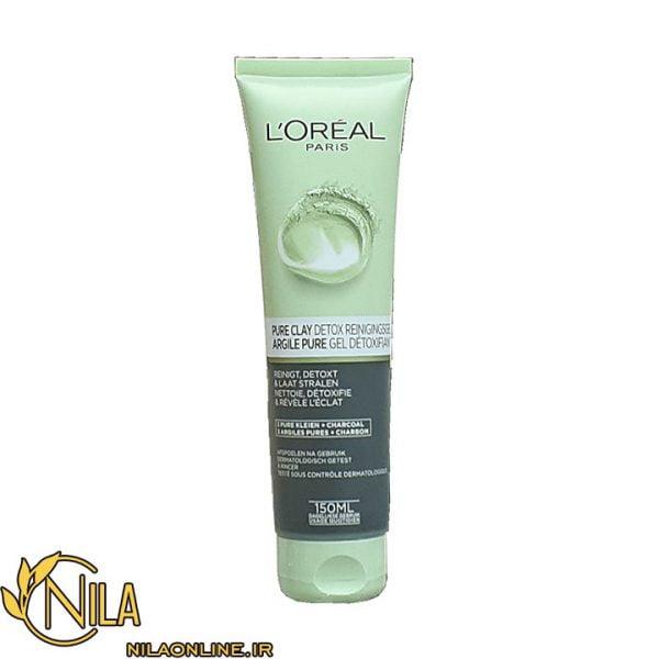اسکراب لایه بردار خاک رس پاک کننده لورآل PURE-CLAY Detox L'Oréal حجم 150 میلی لیتر