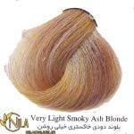 رنگ موی بلوند دودی خاکستری خیلی روشن 9.1 سانتکس