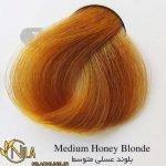 رنگ موی بلوند عسلی متوسط 7.34 سانتکس