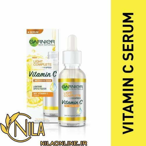 سرم روشن کننده پوست ویتامین C گارنیر GARNIER حجم 30 میلی لیتر