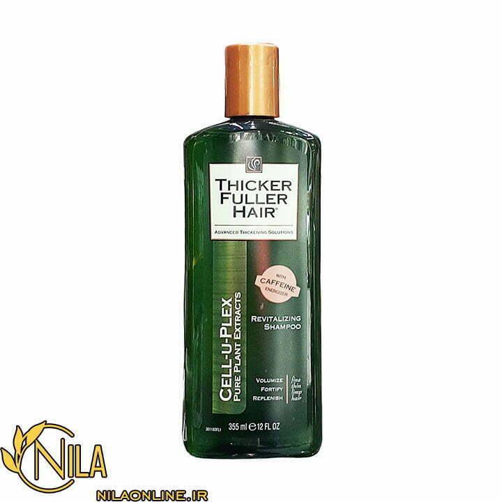 شامپو تیکر فولر Thicker Fuller Hair حاوی کافئین حجم 355 میلی لیتر