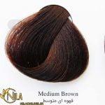 رنگ موی قهوه ای متوسط 4.0 سانتکس