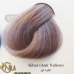 واریاسیون نقره ای (ضد زردی) 010 رنگ موی سانتکس