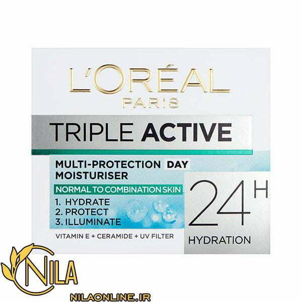 کرم آبرسان روزانه سه کاره لورآل L'Oréal Triple Active حجم 50 میلی لیتر