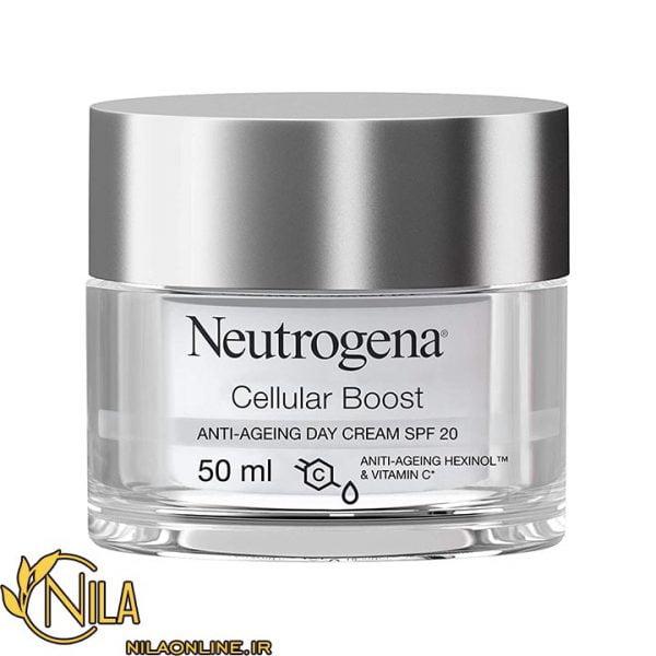 کرم روز ضد پیری ضد چروک سلولار بوست نیتروژنا Neutrogena Cellular Boost