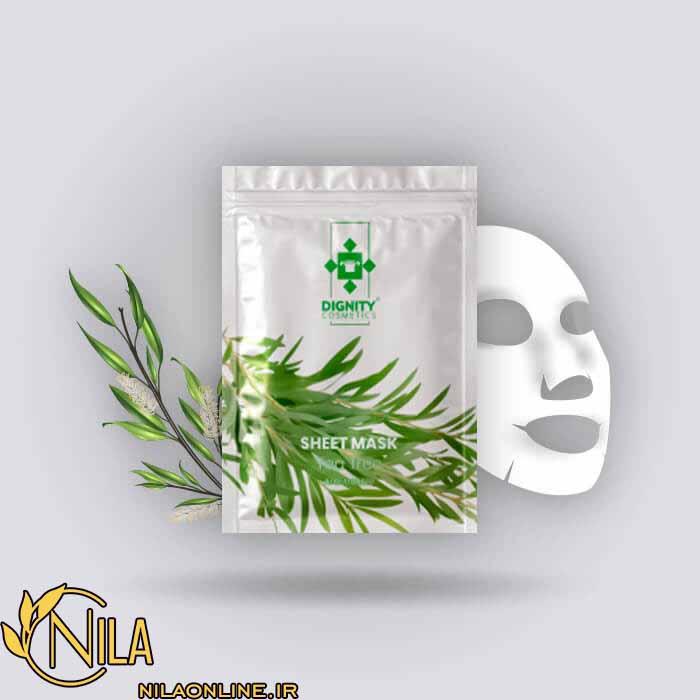 ماسک صورت ورقه ای درخت چای دیگنیتی ضد آسیب دیدگی وزن 30 گرم