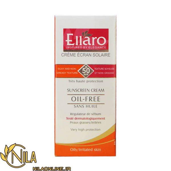 کرم ضد آفتاب الارو Ellaro بدون رنگ و نامرئی مخصوص پوست چرب و ملتهب SPF 50+