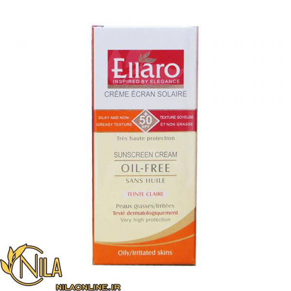کرم ضد آفتاب الارو Ellaro TEINTE CLARIE مخصوص پوست چرب و ملتهب رنگ بژ روشن SPF 50+