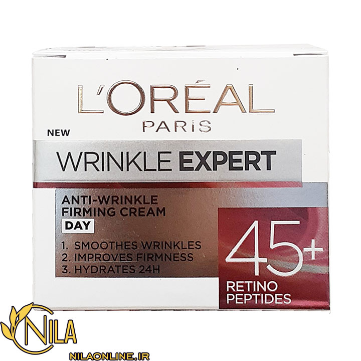 کرم ضد چروک روزانه +45 سال لورآل L'Oréal حجم 50 میلی لیتر