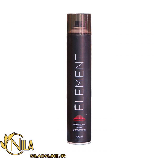 اسپری نگهدارنده و جالت دهنده مو المنت Element نگه دارندگی بسیار قوی حجم 400 میلی لیتر