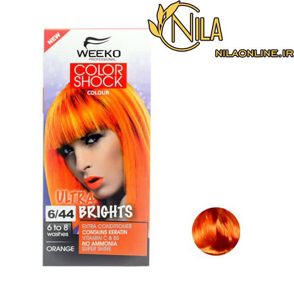 رنگ نارنجی 6.44 ویکو کالر شاک WEEKO COLOR SHOCK