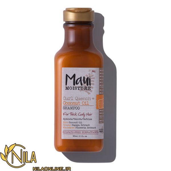 شامپو آبرسان موهای فر ماوی Maui حاوی روغن نارگیل حجم 385 میلی لیتر