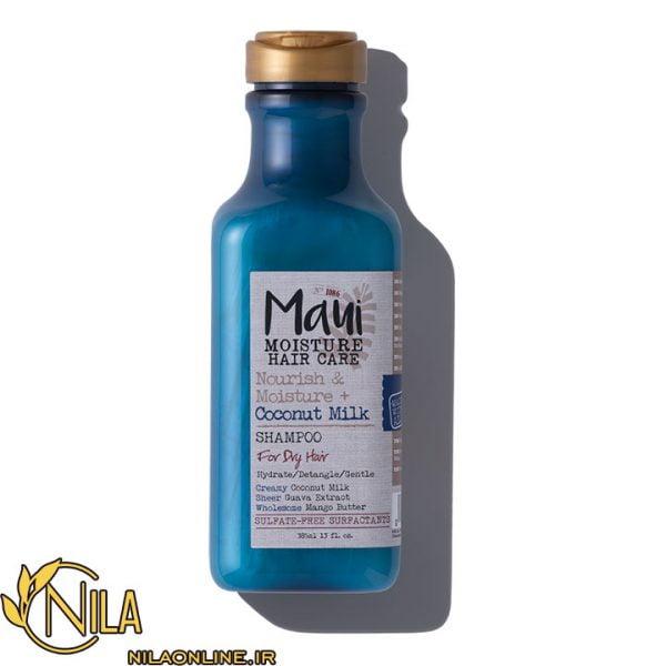 شامپو آبرسان و تغذیه کننده ماوی Maui حاوی شیر نارگیل مناسب موهای خشک حجم 385 میلی لیتر 2 3