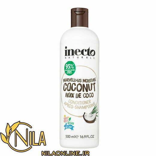 نرم کننده نارگیل اینکتو Inecto با خاصیت آبرسانی موهای خشک و خیلی خشک حجم 500 میلیلیتر