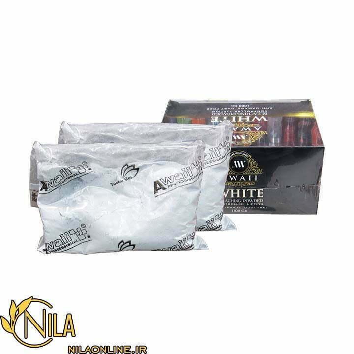 پودر دکلره سفید آوایی بسته بندی کارتنی 1000 گرم